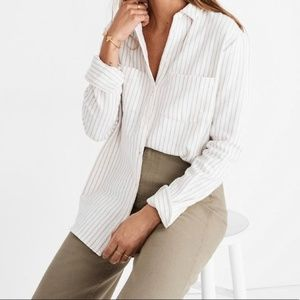Madewell Striped Flannel Sunday Shirt Size Small